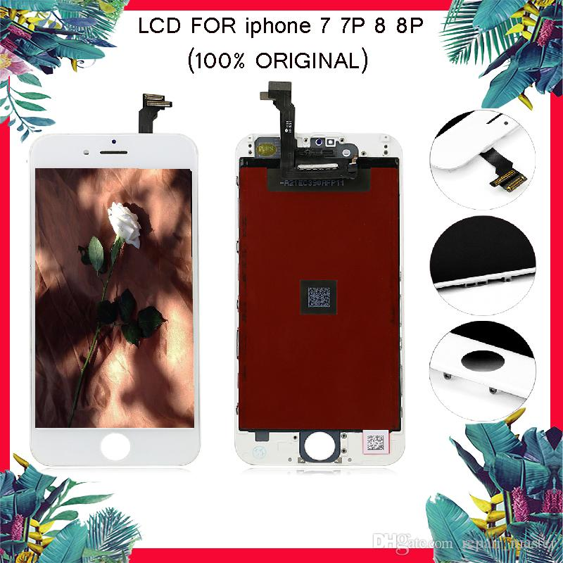 100% display lcd original para iphone 7 7 plus touch screen digitador para iphone 8 8 PLUS Lcd Assembléia Peças de Reparo de Reposição