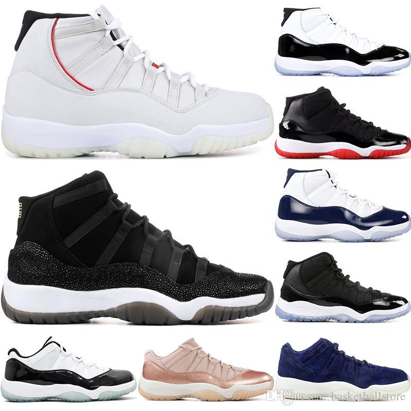best sneakers 240ec 45919 Concord 45 Nike Air Jordan 11 Retro XI Gorra Bata PRM Heiress Bred Gym Rojo  Gris Gamuza Tinte Platino Mermeladas Espaciales 11S Hombres Zapatillas De  ...