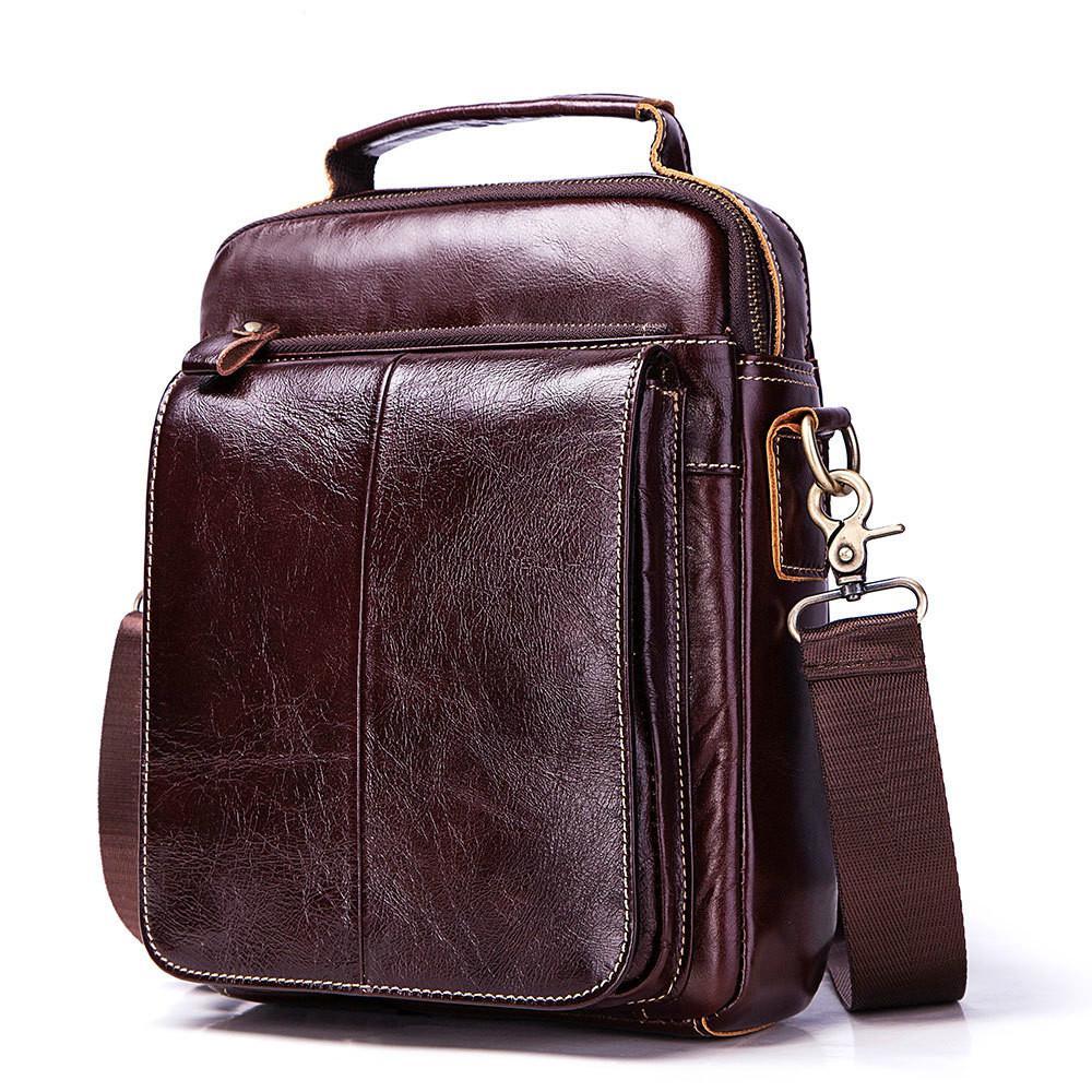 5d4c057828 IMIDO Cowhide Leather Men Messenger Bag Genuine Leather Shoulder Bag ...