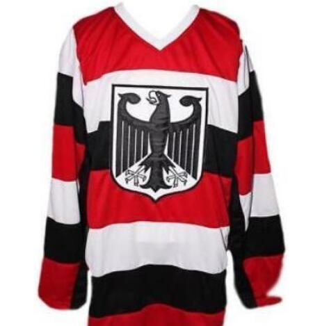2019 Customize Vintage Team Germany Hockey Jersey Embroidery Stitched Or  Custom Any Name Or Number Retro Jersey From C20182604 e40bd9089