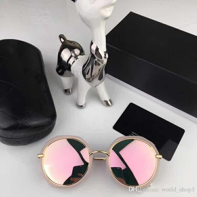 0129 Excellent quality Newest Fashion Traveller Style Rivets Sunglasses Men Women Brand design Mirror Flash Sun Glasses With Box and Cases
