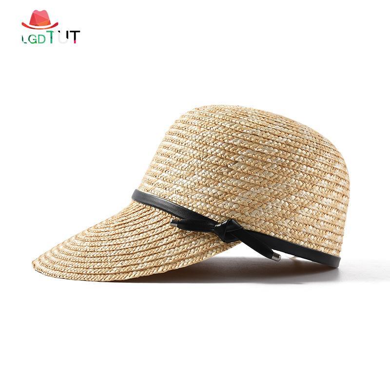 1af3a2fef64e8b 2019 Spring And Summer Ladies Visor Hat Straw Sun Hat Women Summer Baseball Cap  Lady Straw Beach Women Caps Panama Hats Fedora Hats From Hilaryw, ...