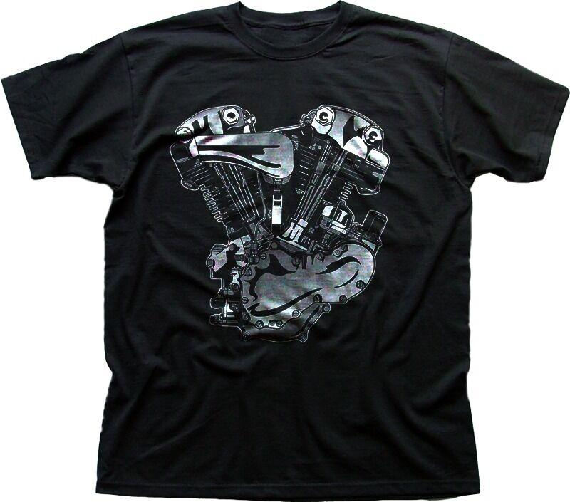 V-Twin Motorcycle engine Harley Indian black printed t-shirt FN0209 summer  o neck tee, free shipping cheap tee,2019 hot tees