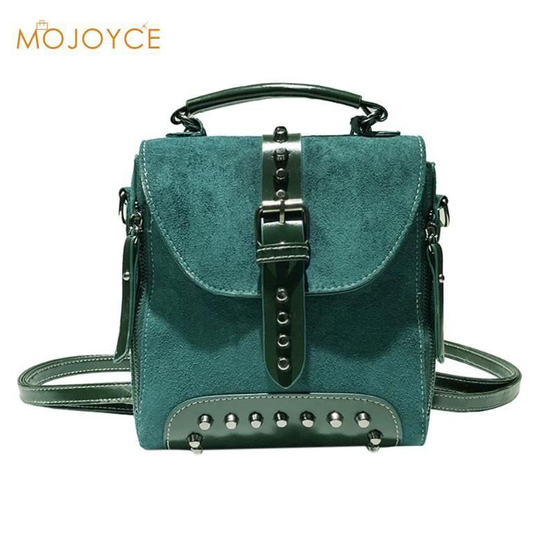 0aa216663951 Casual Women Rivet Backpack Small Ladies Vintage Shoulder Handbags Mini  Travel School Crossbody Bag For Girls Teenage Female Leather Backpacks One  Strap ...