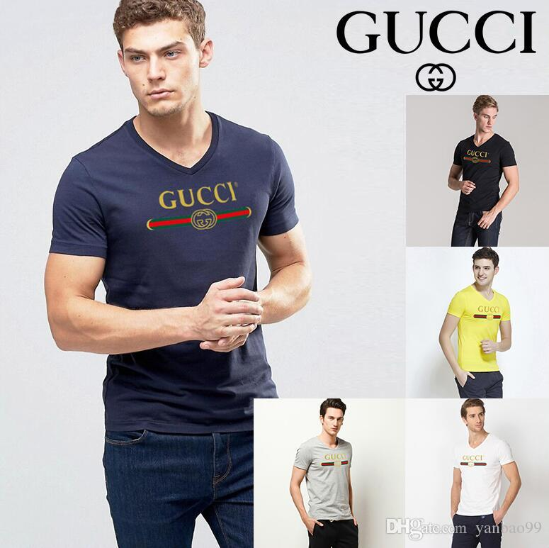 The 2019 summer men's v-neck short-sleeved T-shirt comes in a variety of fashionable colors with