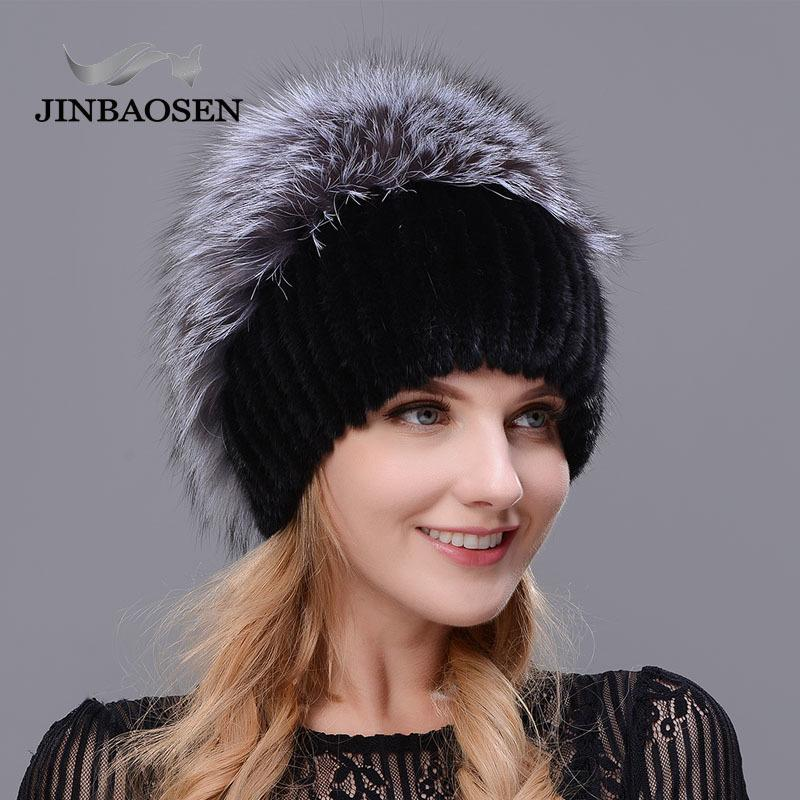 2018 Russian Fur Woman Winter Fashion Real Fur Hat Mink Fur Rabbit Natural  Fox Knit Wool Ski Hat Warm Ear Protection Travel Hat C18112301 Crochet  Beanie ... 2f9853e8a37