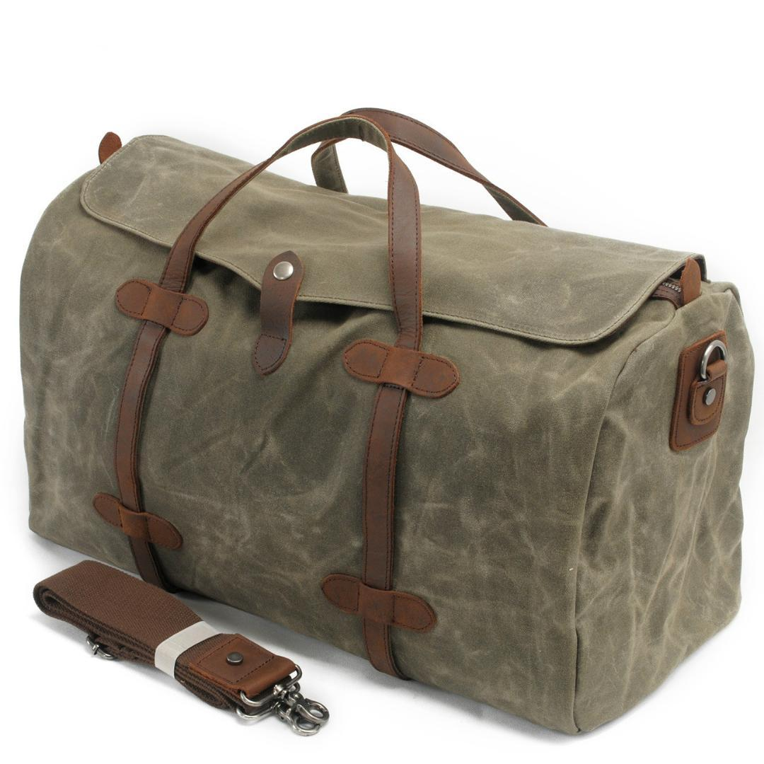 2019 New Luxury Canvas Suitcases and Travel Bag Men Vintage Duffel Big Carry on Luggage Weekend Large Waterproof Shoulder Totes