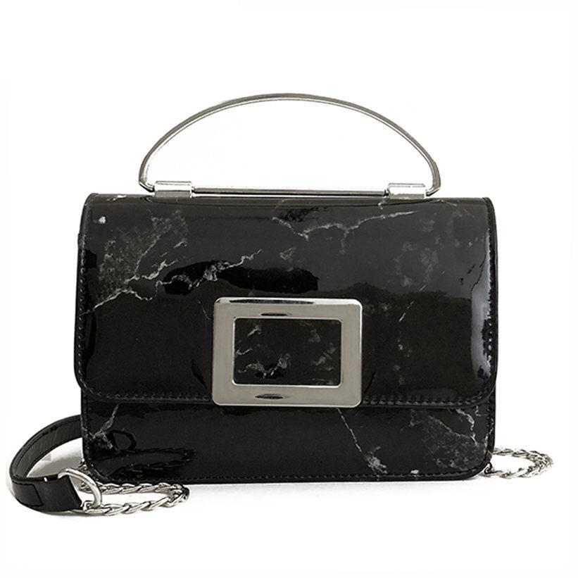 60b0004f7f Marble Flip Portable Small Party Bag New Fashion Wild Leisure Temperament  Personality Chain Shoulder Messenger Bag Cheap Designer Handbags Black  Handbags ...