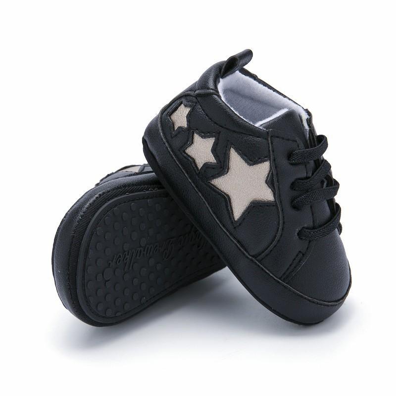 200d9b9b Compre 2019 Zapatos De Bebé Causal Girl Boy Primeros Caminantes Zapatos  Recién Nacidos Cuero De PU Suela Suave Antideslizante Calzado Niño Estrella  ...
