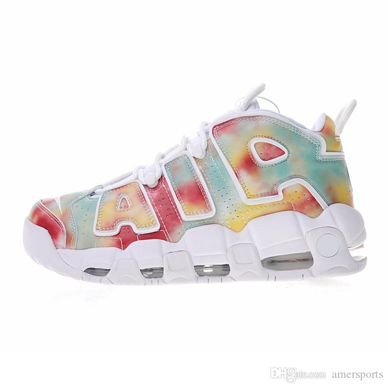 0a8c28ebb2f New Air More Uptempo Tri Color Casual Mens Women Basketball Shoes Athletic  Sport Sneakers US 5.5 13 Shoes Canada Carmelo Anthony Shoes From  Amersports