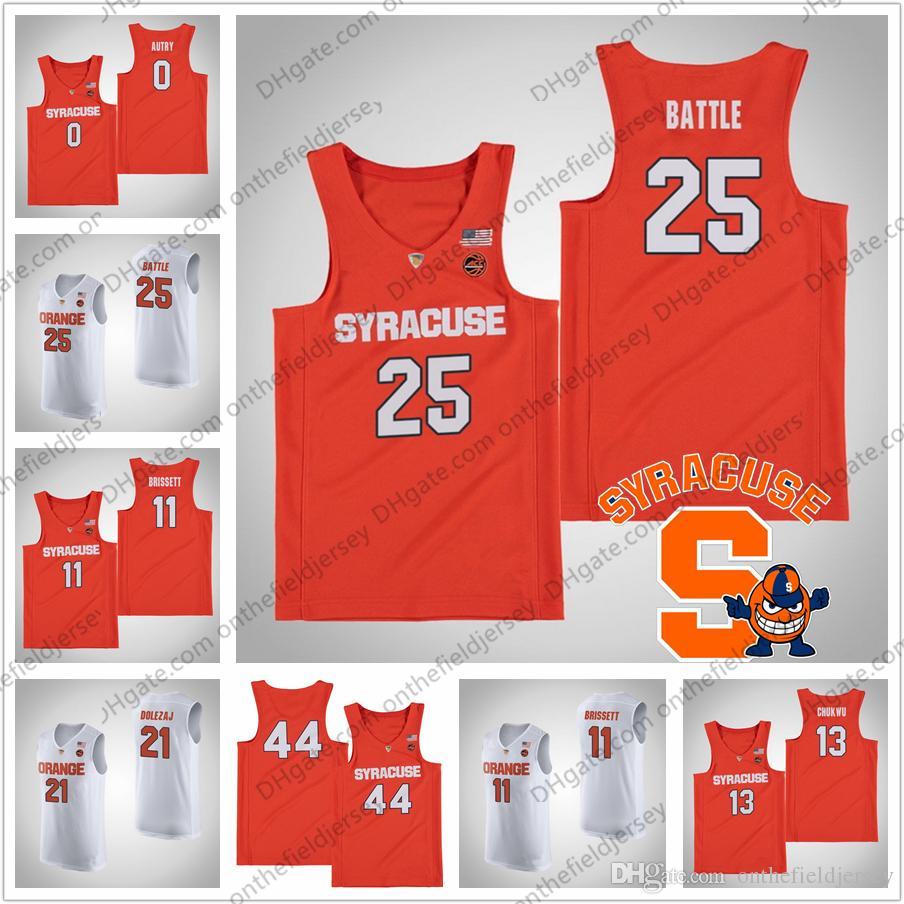 85b8c7f98 NCAA Syracuse Orange  25 Tyus Battle 33 Elijah Hughes 34 Bourama Sidibe 15  Carmelo Anthony 30 Geno Thorpe College Basketball Jersey S 4XL UK 2019 From  ...