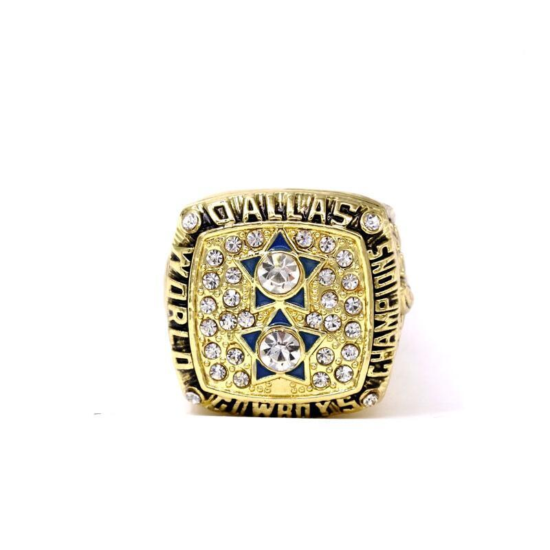 National Football League Dallas Cowboys Champion Rings Fashion 1977 American Football Winner Rings Vintage Anniversary Rings