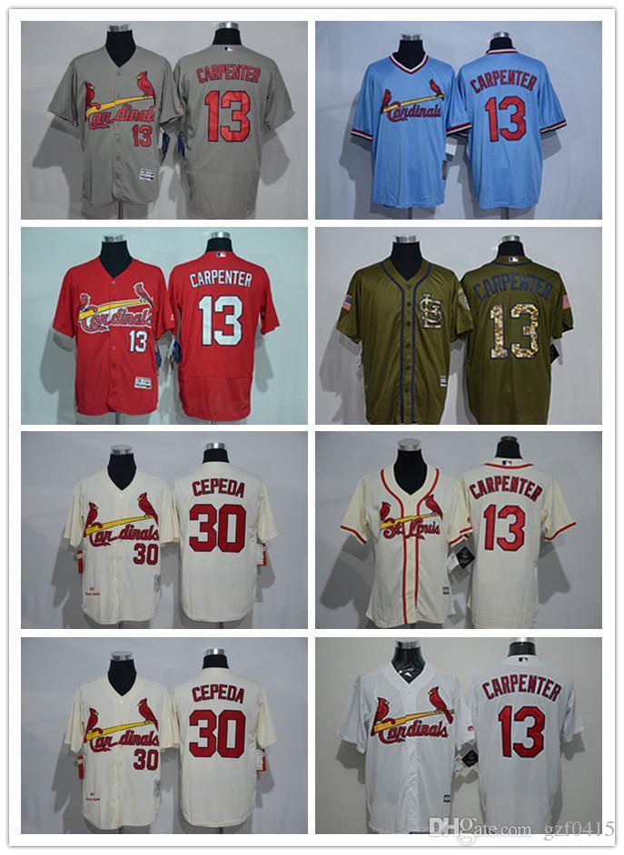best website 98add 88795 Men s women youth St. Louis Cardinals Jersey #13 Matt Carpenter 30 CEPEDA  Red Grey White Baseball Jerseys