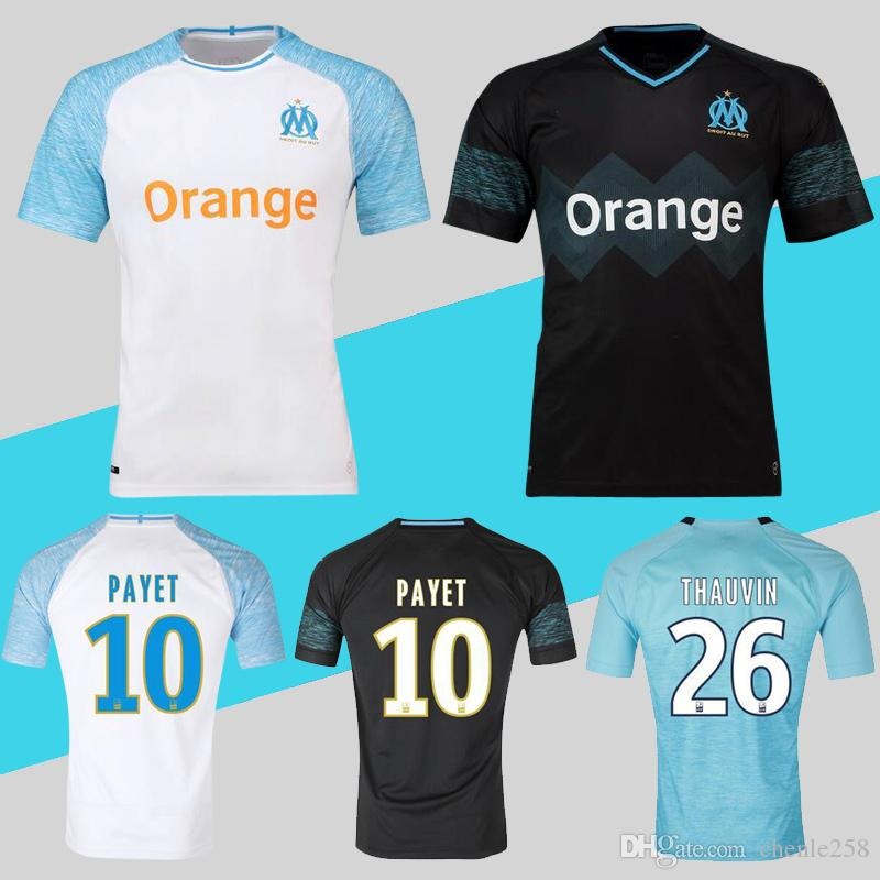 2019 Olympique De Marseille Soccer Jersey OM Home Away Third 10 PAYET 26  THAUVIN 19 L.GUSTAVO 2 SAKAI 2018 2019 Maillot De Foot From Chenle258 1382f710f