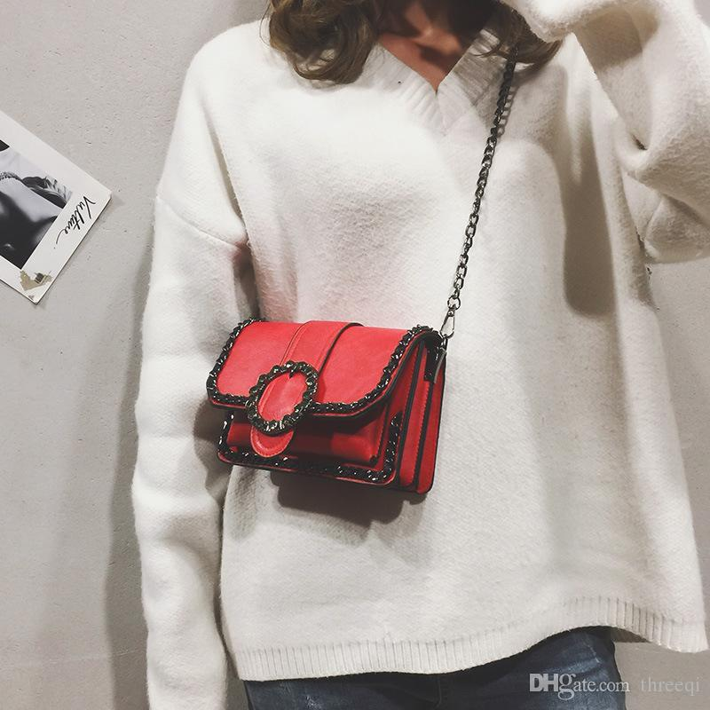 18f4c8286fba 2019 Women s Spring And Summer Pure Retro Fashion Fresh And Elegant Chain  New Korean Single Shoulder Bags Pure Color Shoulder Bags Elegant Shoulder  Bags ...