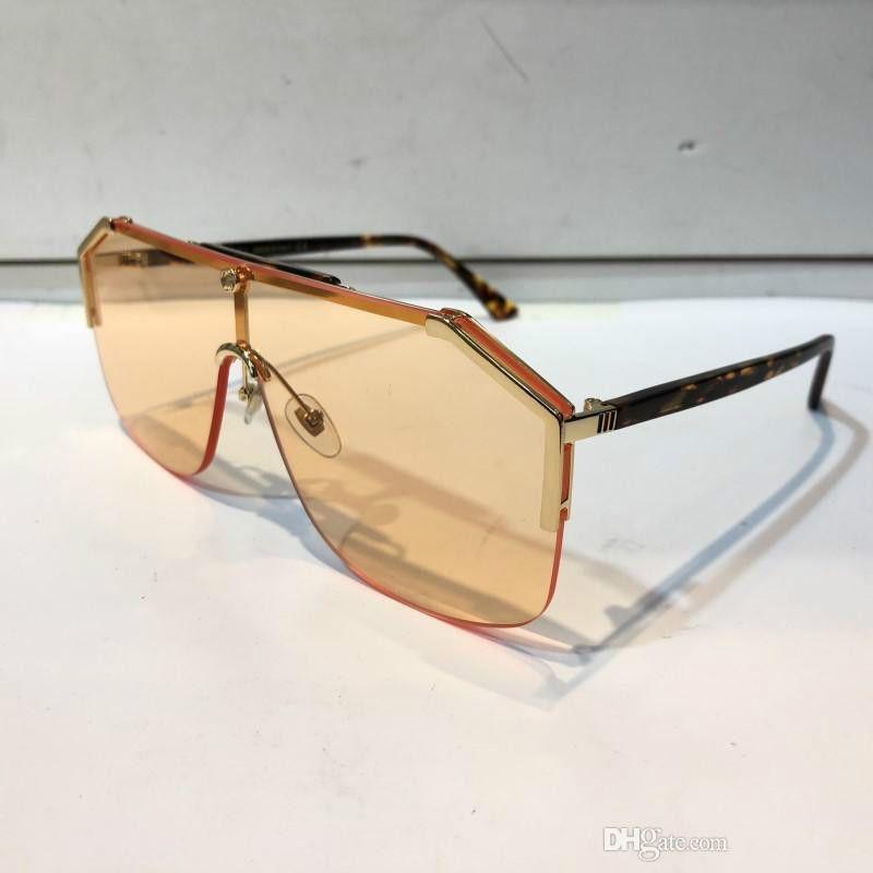 e3e9b243a84b Luxury 0291 Designer Sunglasses For Men Fashion Sunglasses Wrap Sunglasses  Half Frame Coating Mirror Lens Carbon Fiber Legs Summer Style.