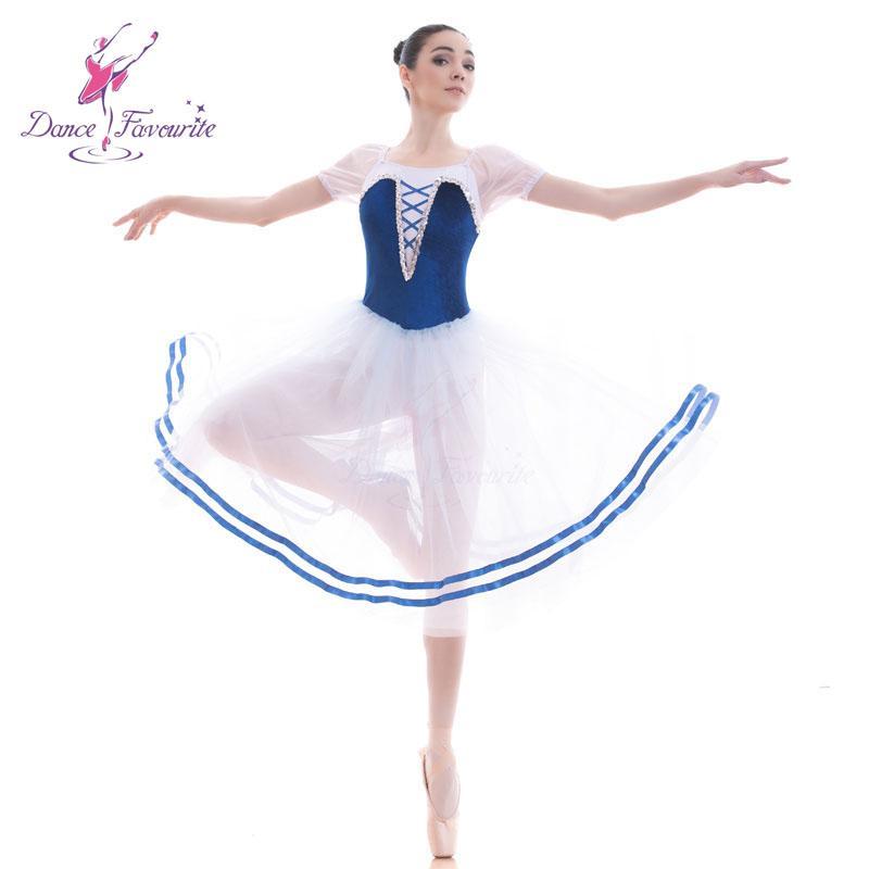 45896a21572 Acheter 18702 Bleu Tutu De Ballet Pour Filles Femmes Performance Tutu De  Ballet Longue Robe Romantique Pour Costume De Danse Ballerine De  64.51 Du  Dalivid ...
