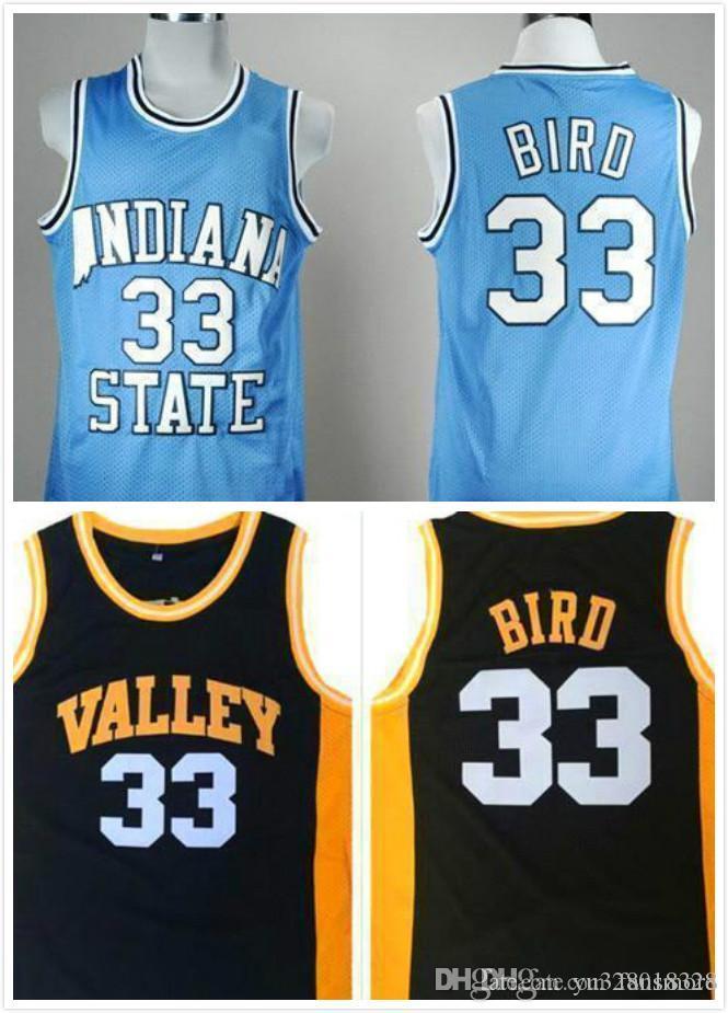superior quality 70501 a0cec Men Larry Bird College Jersey ISU Indiana State Jerseys NCAA Basketball  Jerseys Home Baby Blue