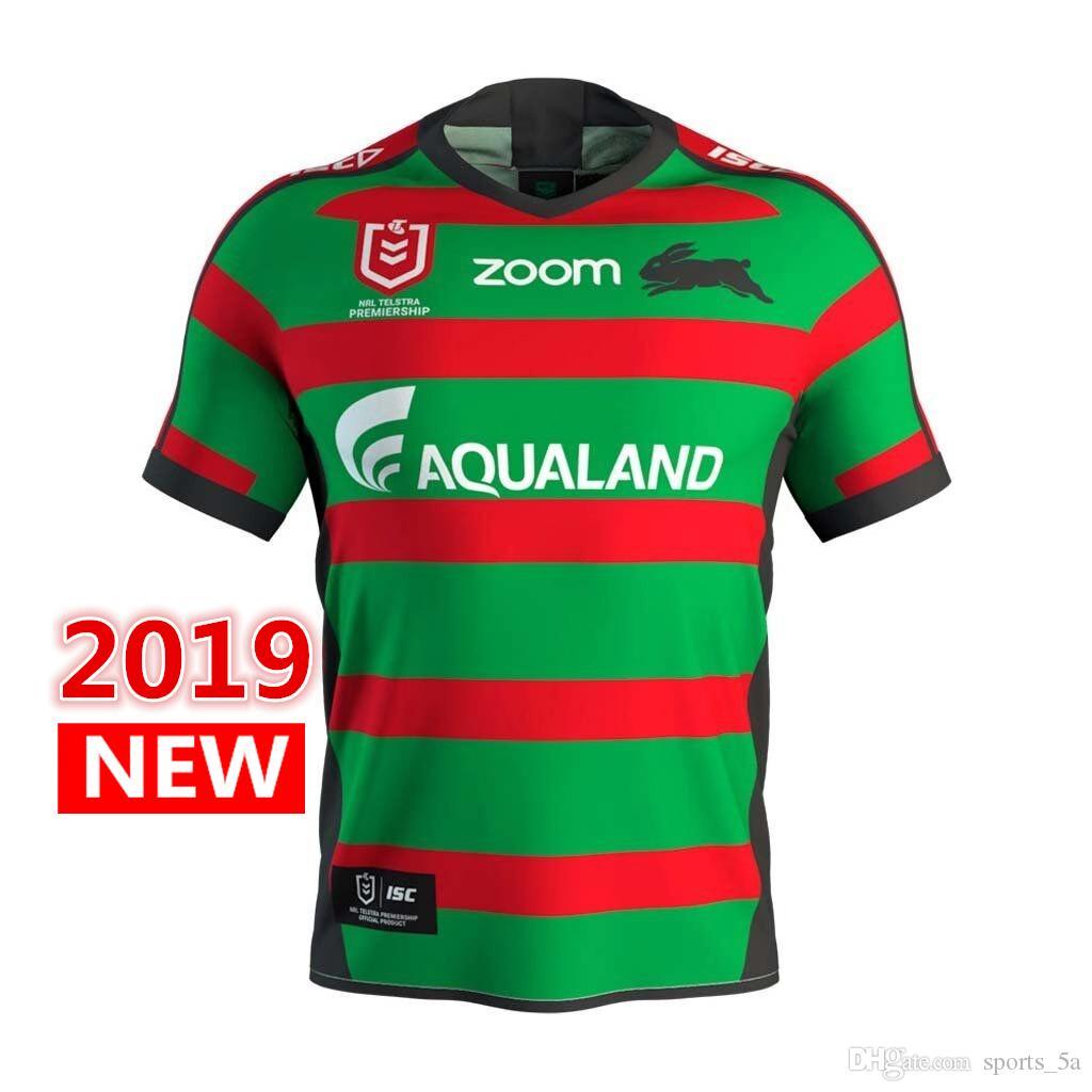 111cc71fafa8d Compre Mejor Calidad Australia 2019 2020 South Sydney Rabbitohs Home Rugby  Jerseys Liga Rugby Camiseta Nrl Jersey South Sydney Rabbitohs S 3xl A   17.26 Del ...