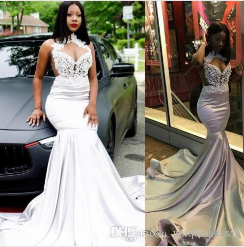 8410f58f6a74 African Charming Mermaid Prom Dresses 2019 Lace Appliques Prom Gowns Formal  Evening Party Gowns Special Occasion Dress Prom Dress Stores In Michigan  Prom ...