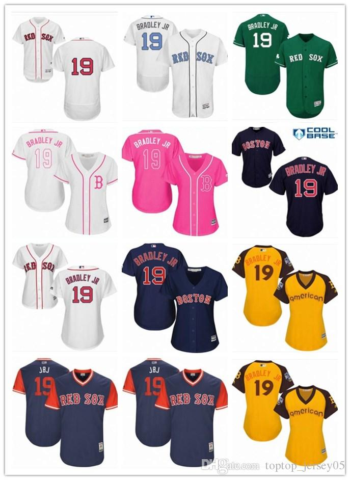 adc7e57c3 2019 2018 Boston Red Sox Jerseys #19 Jackie Bradley Jr Jerseys Men#WOMEN# YOUTH#Men'S Baseball Jersey Majestic Stitched Professional Sportswear From  ...