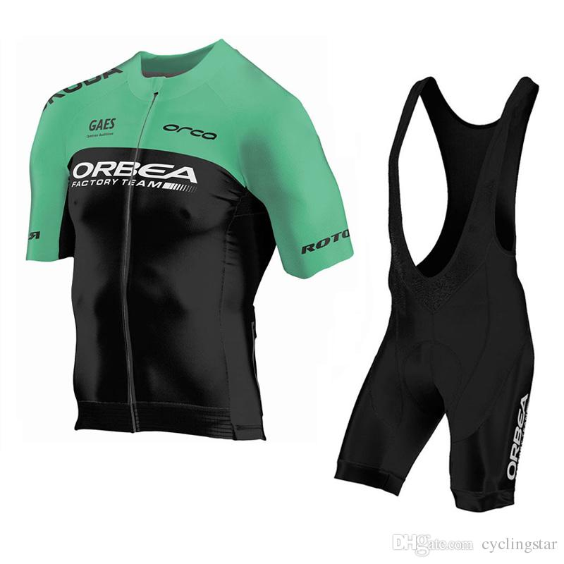 High Quality ORBEA Team men Cycling Jersey Suit summer MTB Bike Shirt bib shorts set sports uniform ropa ciclismo bicycle clothes Y050603