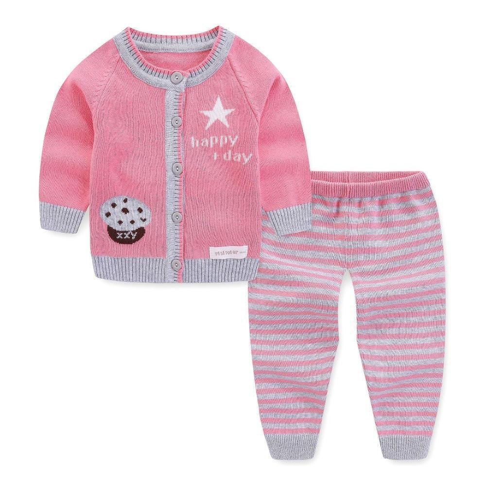 fb3587a65 2019 Newborn Baby Girls Spring Autumn Cardigan Clothing Set Toddler ...