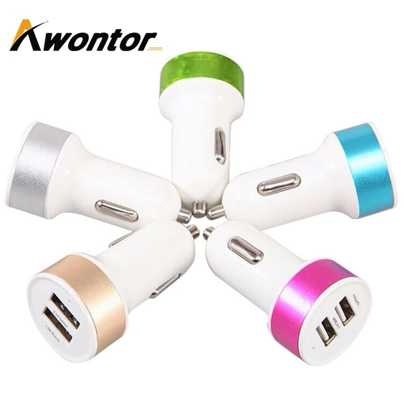 Double USB car charger 2A High quality car chargers For Iphone6 6plus Samung s6 S7 edge