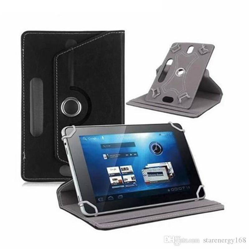 168 가죽 케이스 360도 회전 보호 스탠드 보편적 인 Android 태블릿 PC 접이식 플립 케이스 내장 카드 버클 7 8 9 10 인치