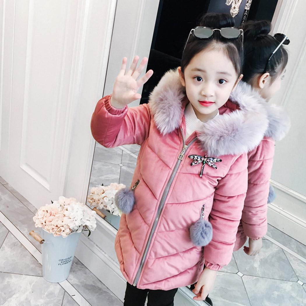 fa11fb462 New 2018 Fashion Children Winter Velvet Parkas Jacket Girl Winter ...
