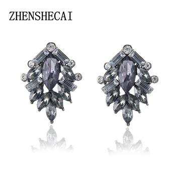 Fashion Round earring stud simple designer Sculpture crystal earring for women girl jewelry gift vintage high quality e0403