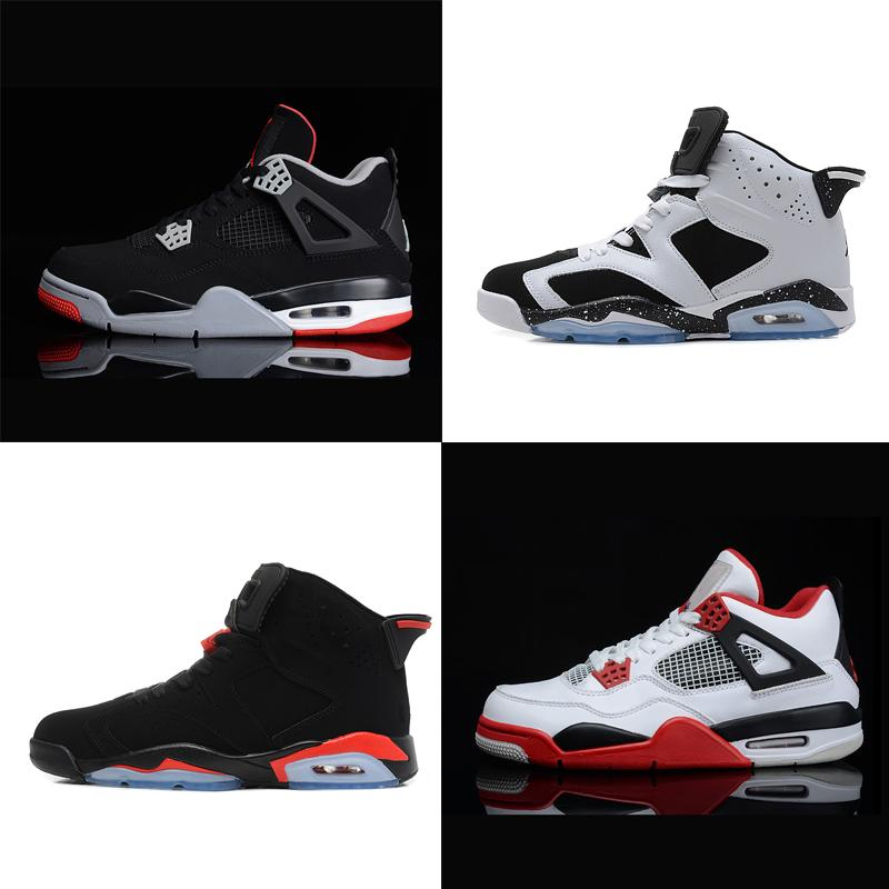 6913e7ddf91869 2019 Hot Retro Mens Fashion Designer Outdoor Shoes Sneakers 4s 6s  Chaussures 4 6 White Black Red Basketball Cheap From Rosejersey