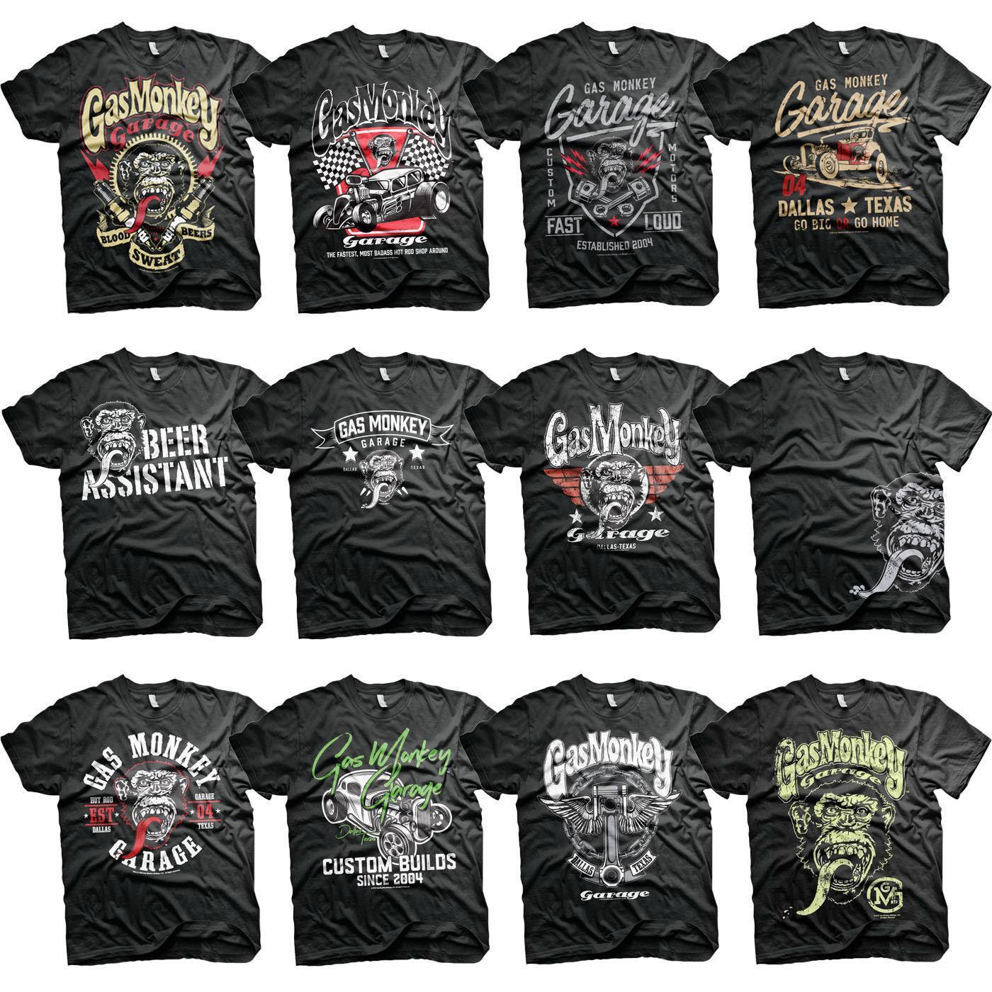 qualité stable professionnel de la vente à chaud nouveaux styles Official Gas Monkey Fast N Loud Gmg Builds Mens T-shirt Q190518
