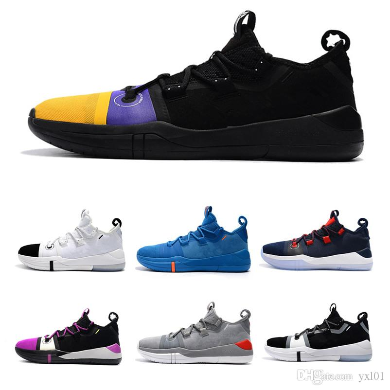 f3ef7d178de 2019 Hot Kobe AD EP iD By Kuzma Oreo Basketball Shoes for High quality Mens  Trainers 12s De'Aaron Fox Purple Sports Sneakers Size40-46