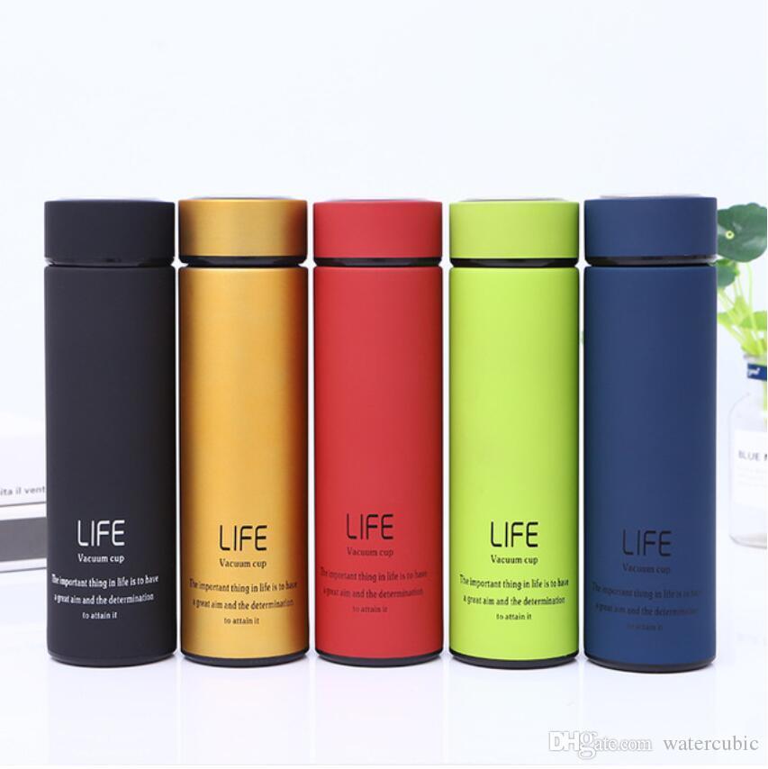 c2295cd8cd 500ml 304 Stainless Steel Water Bottle Vacuum Flask Cup Sports Mugs ...