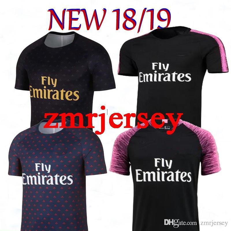 super popular d50b2 83cbe 18 19 PSG NEYMAR JR MBAPPE shirt T SILVA CAVANI DI MARIA 2018 2019  Champions League neymar jr jersey sports Training suit