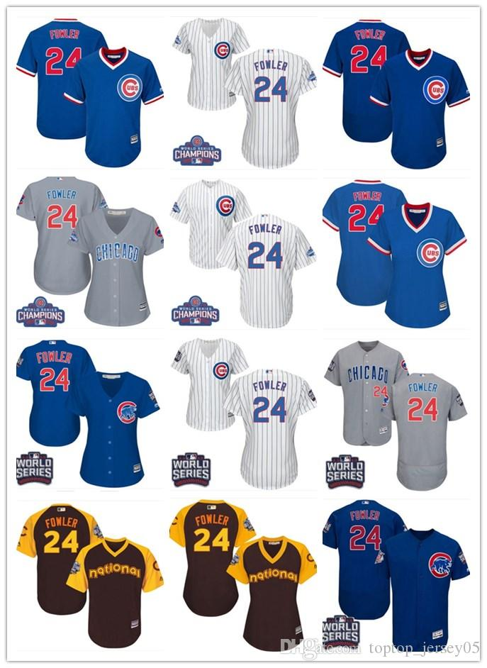 new product eb6ed c712d 2018 top Chicago Cubs Jerseys #24 Dexter Fowler Jerseys men#WOMEN#YOUTH#Men  s Baseball Jersey Majestic Stitched Professional sportswear