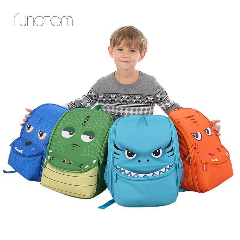 2019 3D Cartoon Dinosaur 15.6 Inch Cute Kid Toddler School Bags Backpack  Kindergarten Children Girls Boys Schoolbag Animal Bag Girls Backpacks  Satchel Bags ... 2b7000de3545a