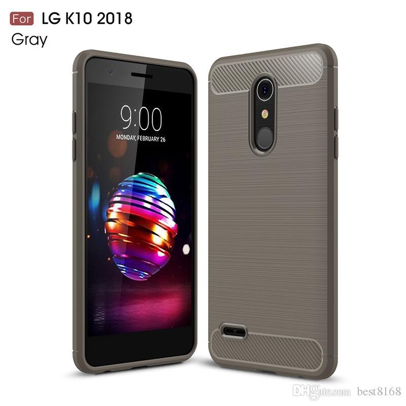 c0ca0ce8a30 Fundas De Telefono Para LG G7 Q7 Q Stylus K10 K8 2018 Q6 V40 V30 V30S G6  Cepillado Motomo Suave TPU Funda Ultra Delgada Vertical De Fibra De Carbono  ...