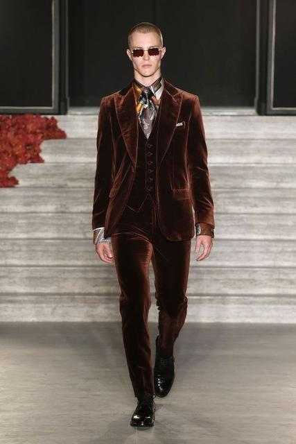 2019 New Brown Velvet Groom Tuxedos Men Suits For Wedding Custom Made Slim Fit Bridegroom Men Suit Ternos Masculino Mens Suits