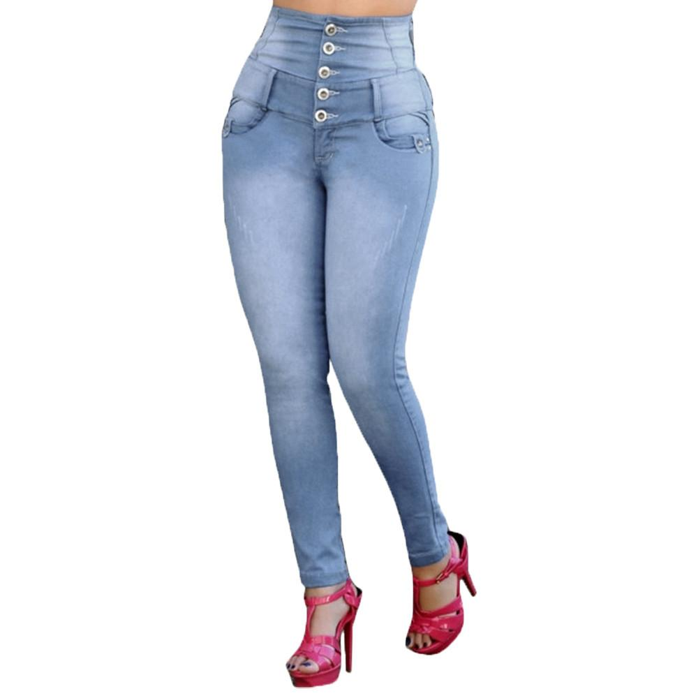 291da6e13ce72 2019 Women S High Waisted Jeans Skinny Denim Jeans Stretch Slim Pants  Pantalon Mujer Women Denim Elastic Leggings Casual Pencil Jean From Baicao
