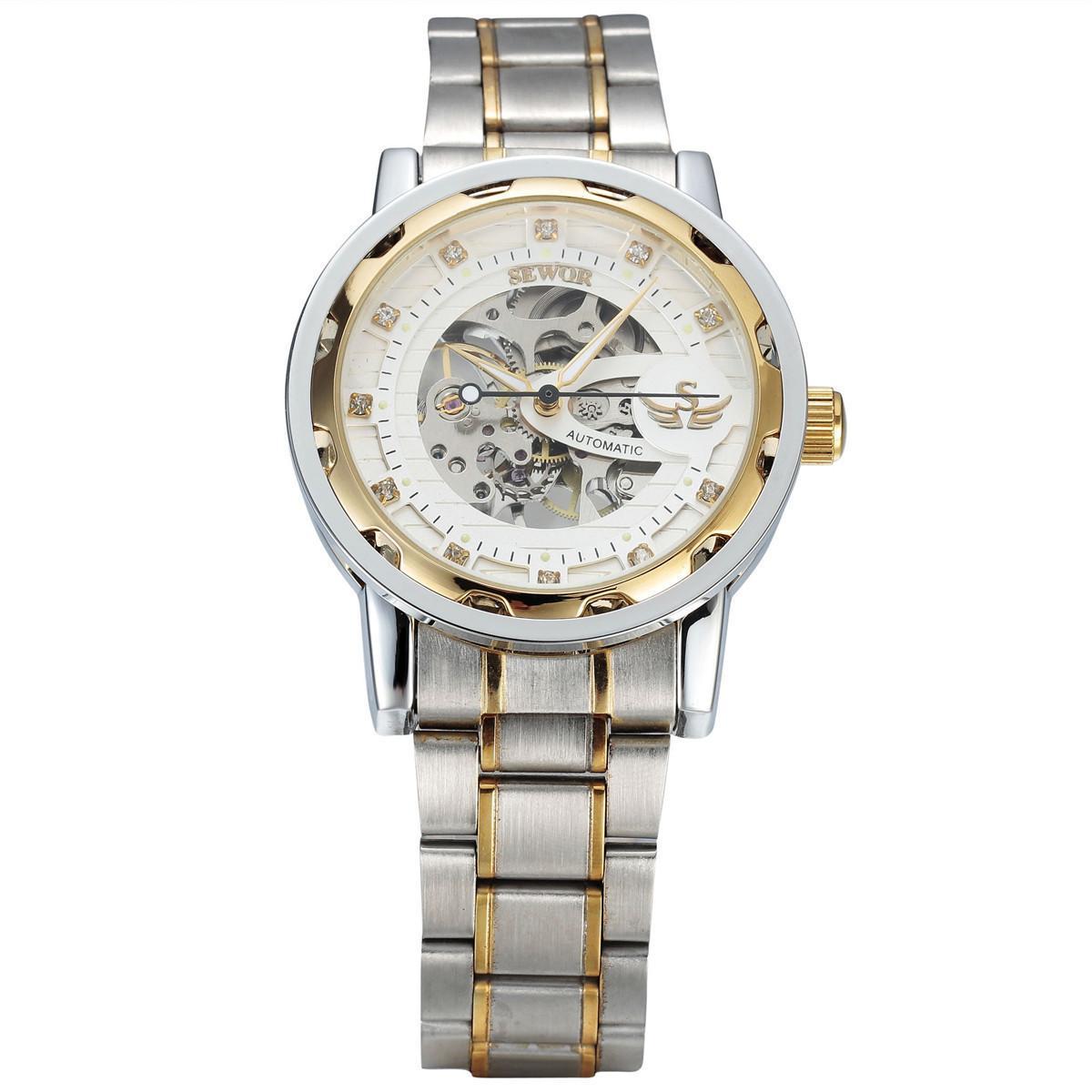 db31d37e1e1 Compre Relógios De Luxo Vestido De Grife De Moda Feminina De Ouro  Calendário Pulseira De Ouro Dobrável Noctilucentes À Prova D  água De  Quartzo Esporte ...