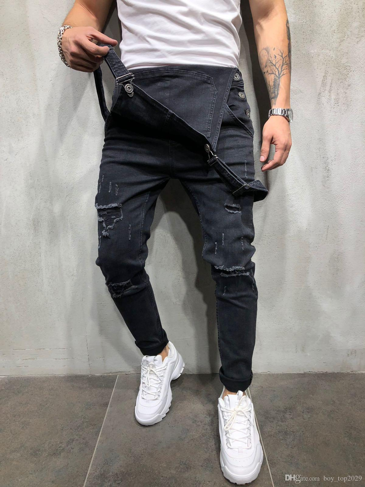 153a74e073f 2019 HOT!!! High Quality Denim Overalls Suspenders Men S Foreign Trade Jeans  Pants Korean Version Of The Jumpsuit Size S 3XL From Boy top2029