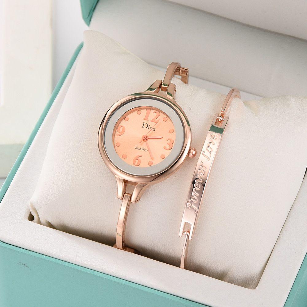 Compre Conjunto De Lujo De Cadena De Acero Inoxidable Reloj De Pulsera De  Las Mujeres Relogio Masculino Chica Temperamento Reloj Pulsera Señoras Reloj  De ... cc5955890f48