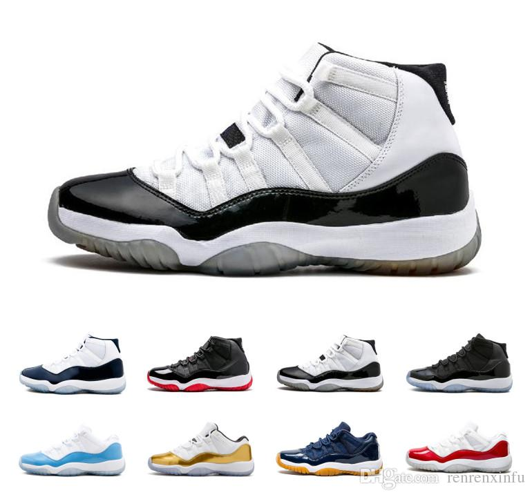 ddb17404889 2019 2018 Air Prom Night 11s XI Chicago Midnight Navy Bred 11 Men Women Basketball  Shoes Retro Space Jam Heiress Mens Trainers Sports Sneakers From ...