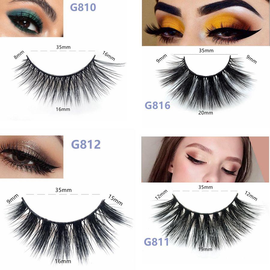 3D Mink False Lashes Long Thick Natural Mink Lashes Handmade False Eyelash  Eye Makeup Tools 5 Pairs/set RRA882