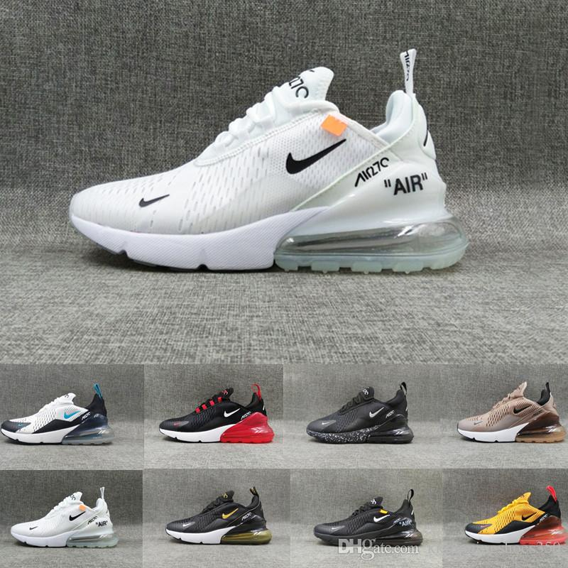 Nike air max 270 27c airmax 2019 NUEVO Cushion Sneaker Designer Zapatos casuales Trainer Off Road Star Iron Sprite Tomate Hombre General Para Hombres