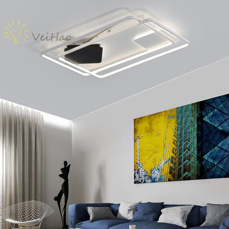 Plafoniere moderne Lampada a LED per soggiorno Camera da letto Sala studio  Plafoniera montata superficie colore bianco Deco AC220-240V