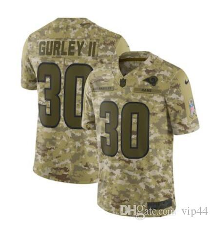 newest 1ea66 81192 2019 Mens jersey Todd Gurley II Aaron Donald Eric Dickerson Custom Los  Angeles Rams color rush american womens football kids jersey elite 5x