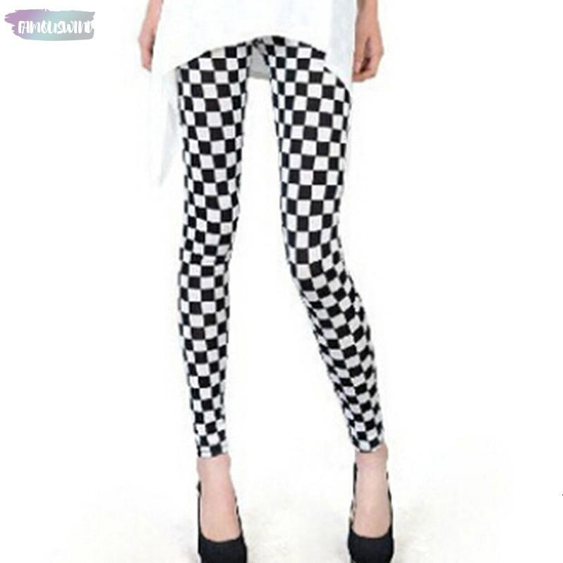 Fashion New Legging Printed Slim Sexy Black White Stripes Leggins Women Leggings Casual Sportwear Floral Digital Legging Female